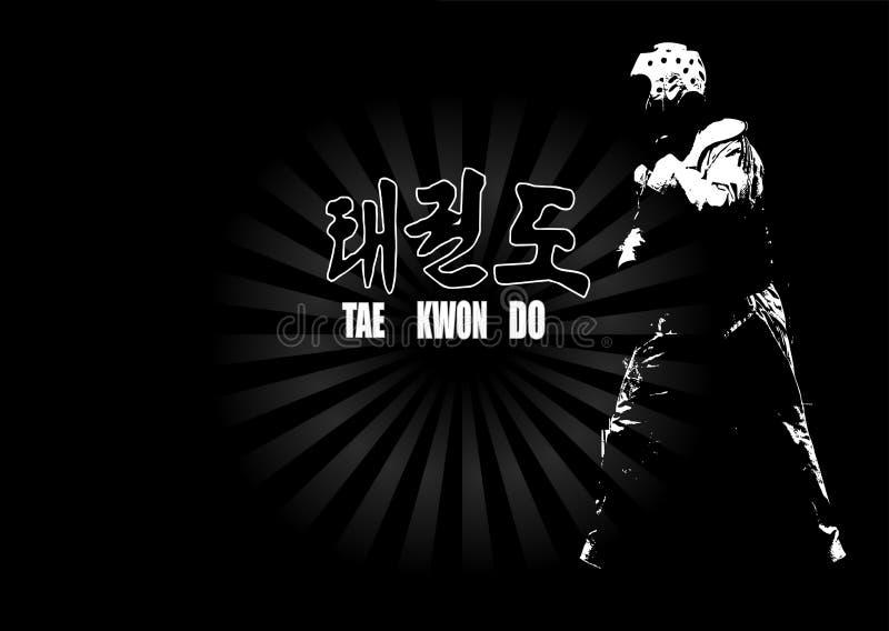 Taekwondo royalty-vrije illustratie