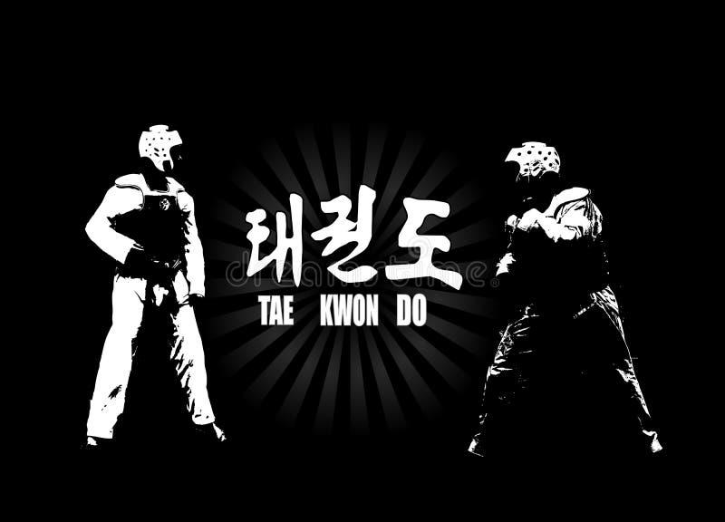 Taekwondo ilustración del vector