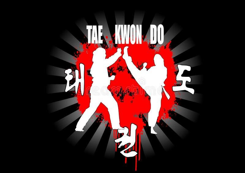 Taekwondo vektor abbildung