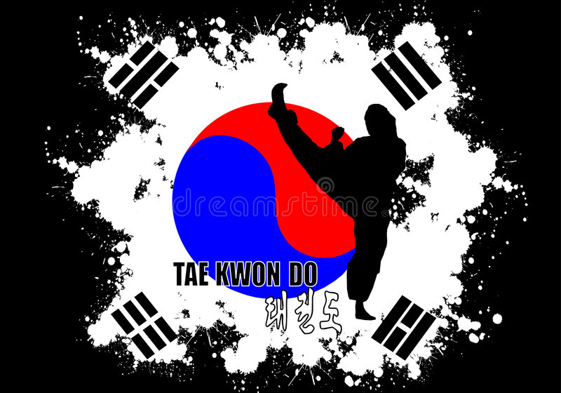 Taekwondo illustration libre de droits