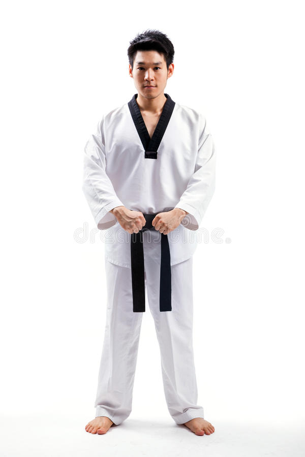 Taekwondo action stock photos