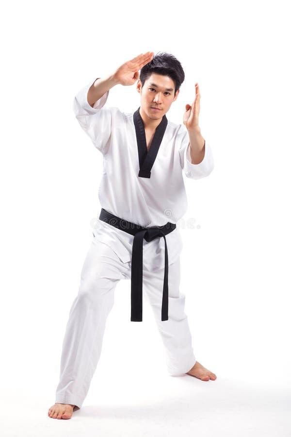 Taekwondo akcja obrazy royalty free