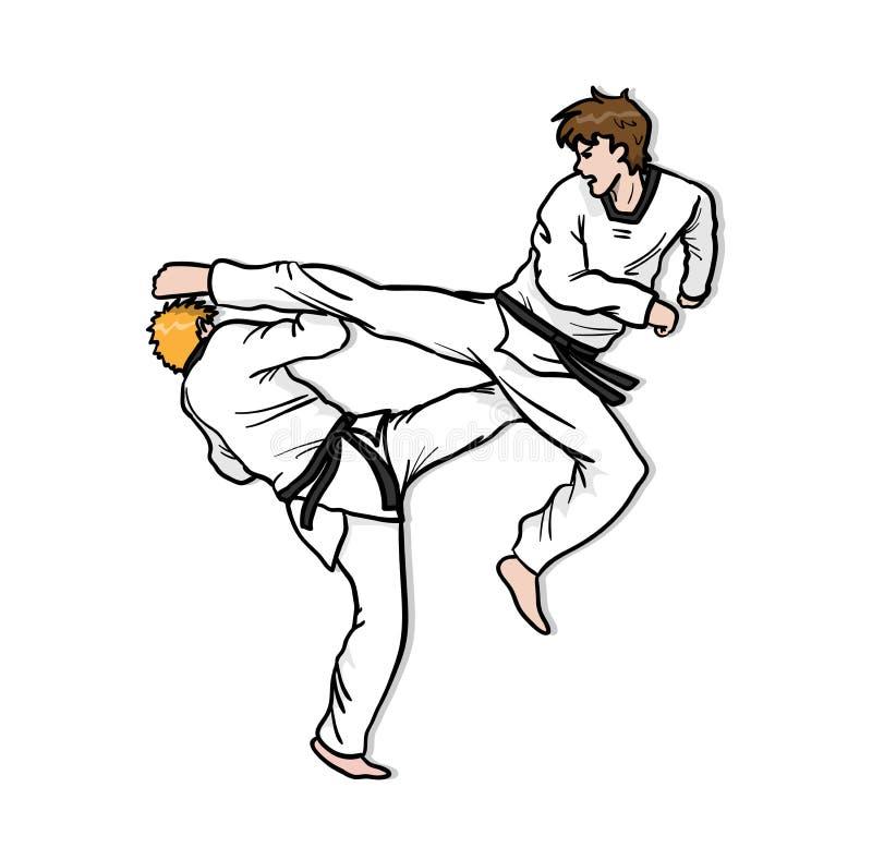 Taekwondo Competition Sparring royalty free illustration