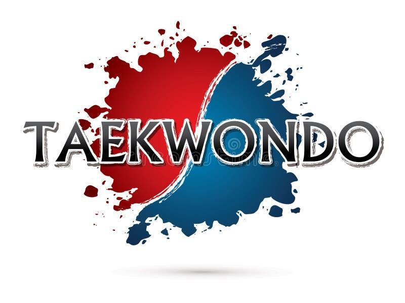 Taekwondo Font design. royalty free illustration