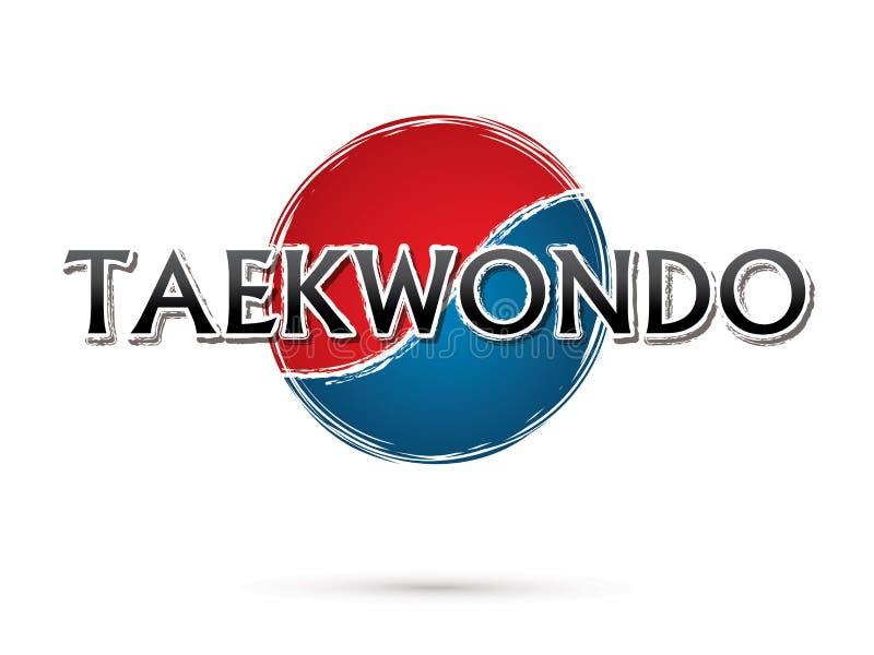 Taekwondo Font text royalty free illustration