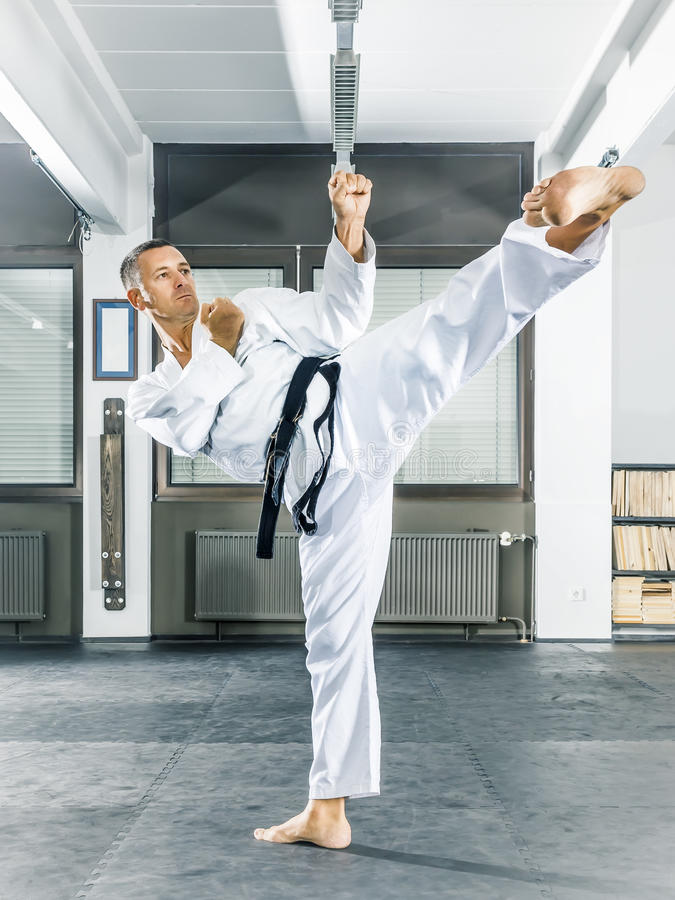 Taekwondo. An image of a taekwondo martial arts master royalty free stock photography