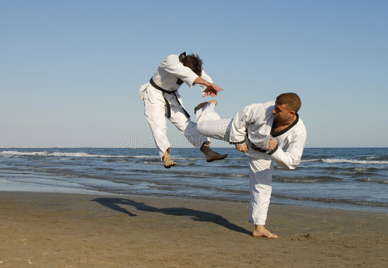 Taekwondo, kickboxing imagen de archivo libre de regalías