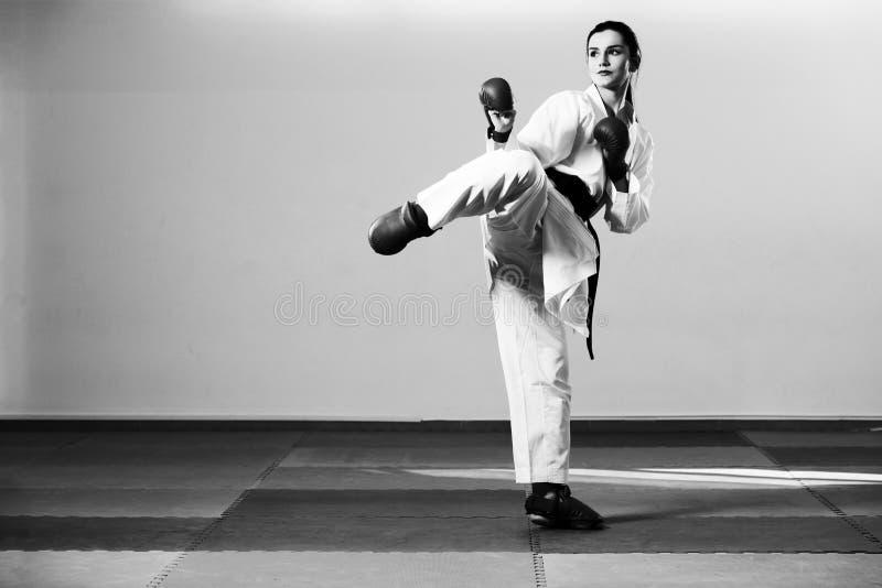 Taekwondo Myśliwska poza zdjęcie stock