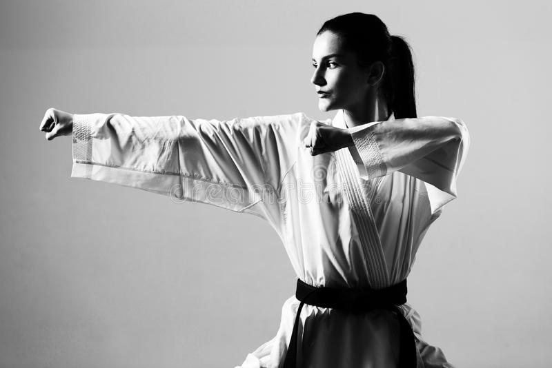 Taekwondo Myśliwska poza fotografia royalty free