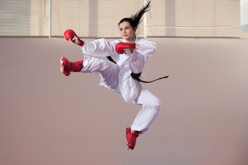 Taekwondo Myśliwska poza fotografia stock