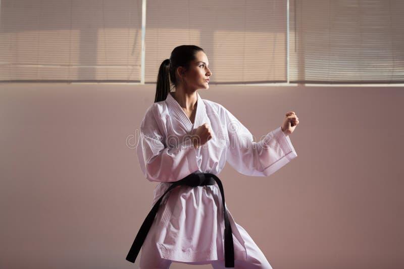 Taekwondo Myśliwska poza obraz royalty free