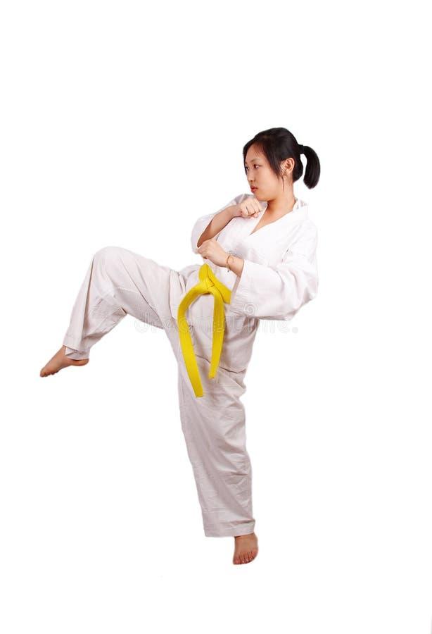 taekwondo utbildning arkivbild