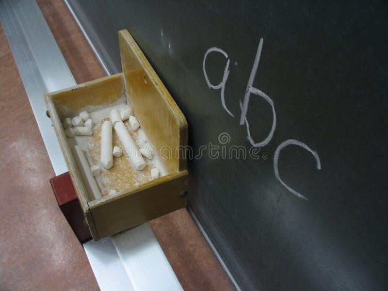 Tafel ABC stockbilder