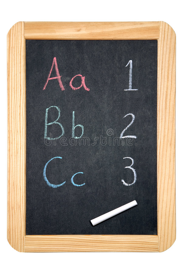 Tafel ABC/123 stockbild
