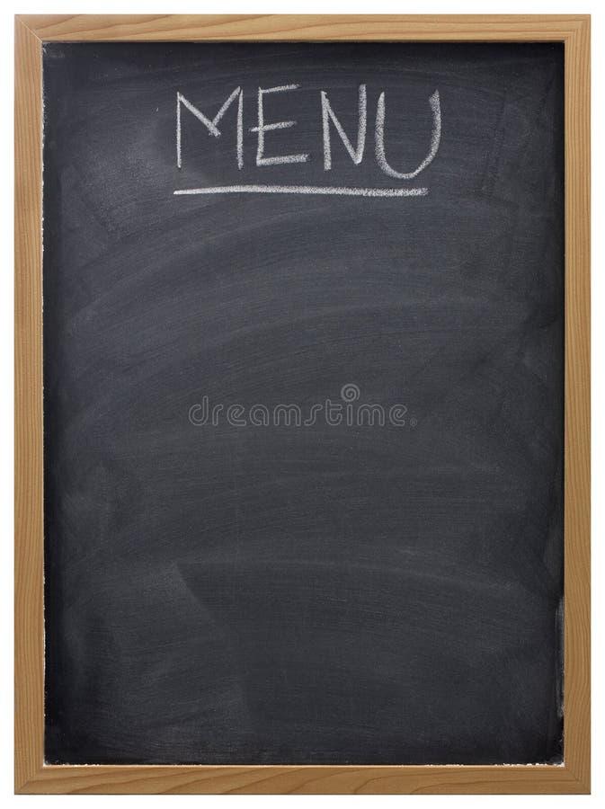 Tafel benutzt als Menü lizenzfreie stockfotografie