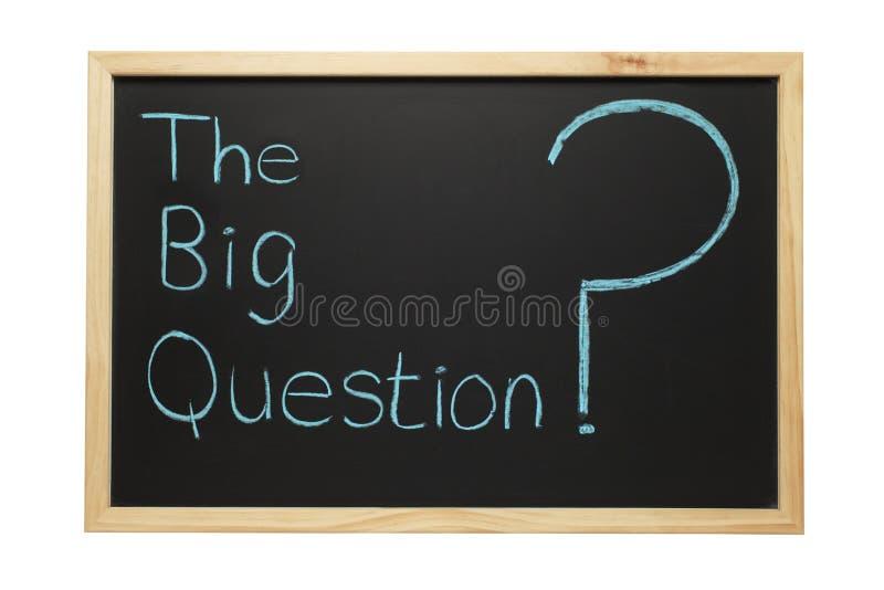 Tafel die große Frage stockbild