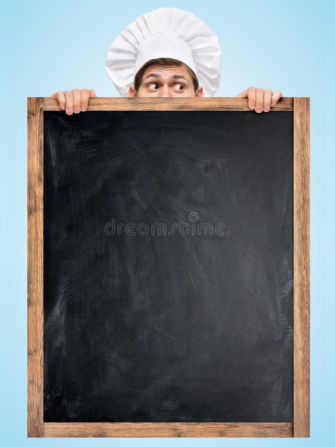 Tafel für Menü stockbild