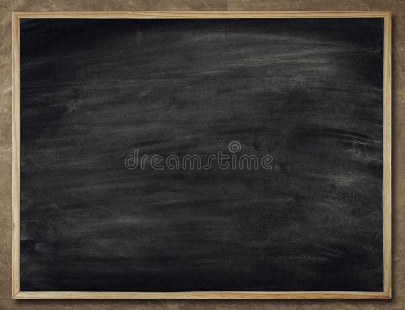 Tafel-Hintergrund im hölzernen Rahmen, leere Tafel-Wand, Scho lizenzfreies stockfoto