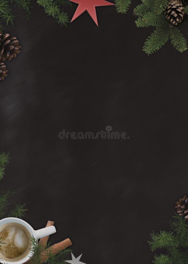 Tafel im Coffee-Stil stockfotografie