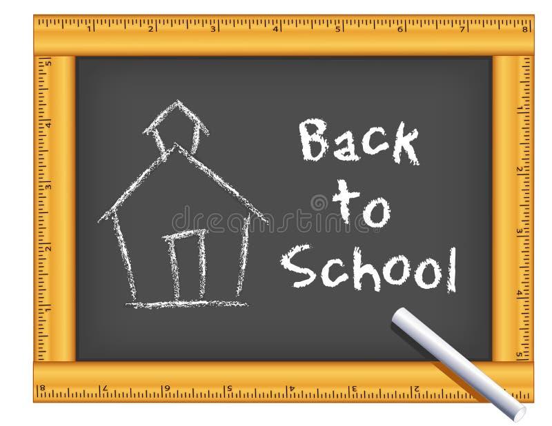 Tafel-Machthaber-Rahmen, Kreide, Schulhaus, zurück zu Schule vektor abbildung