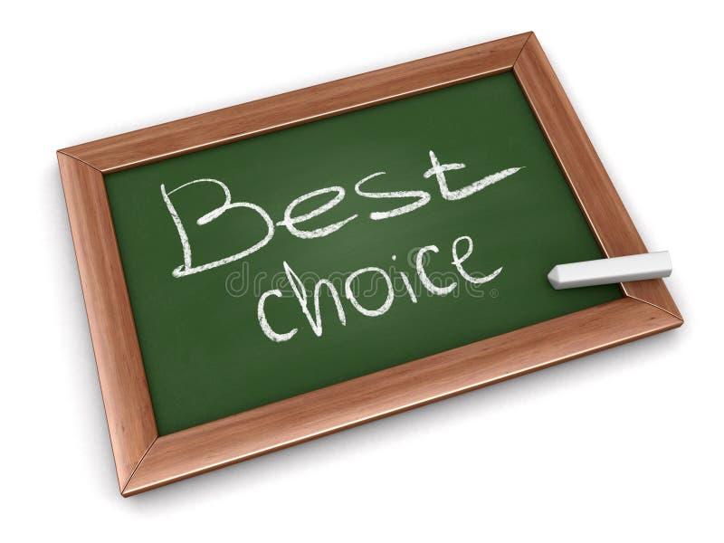 Tafel mit bester Wahl lizenzfreie abbildung