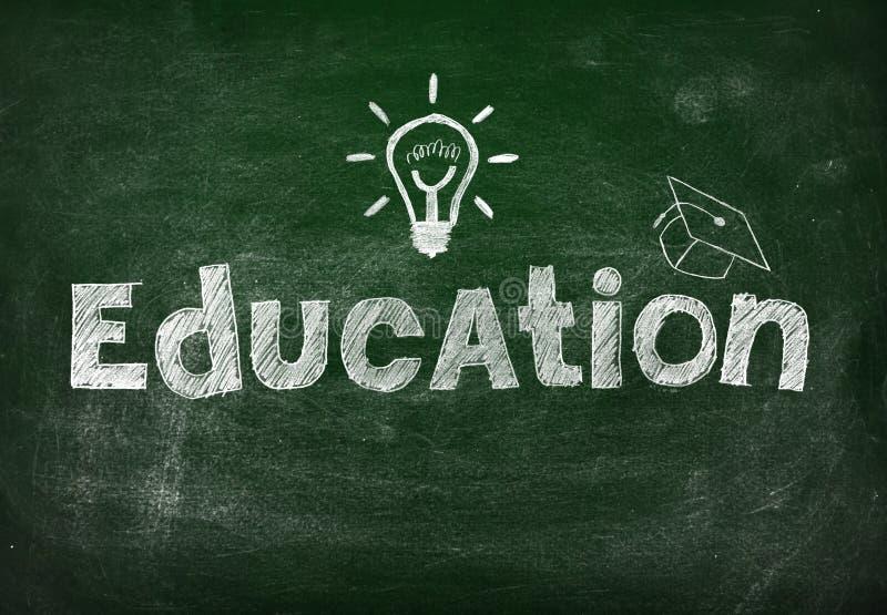 Tafel mit Bildung lizenzfreie abbildung