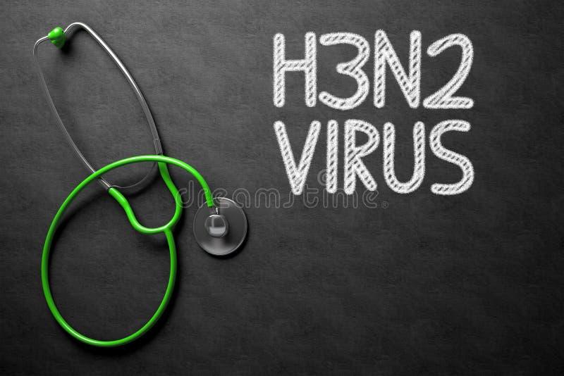 Tafel mit H3N2 Abbildung 3D lizenzfreies stockfoto