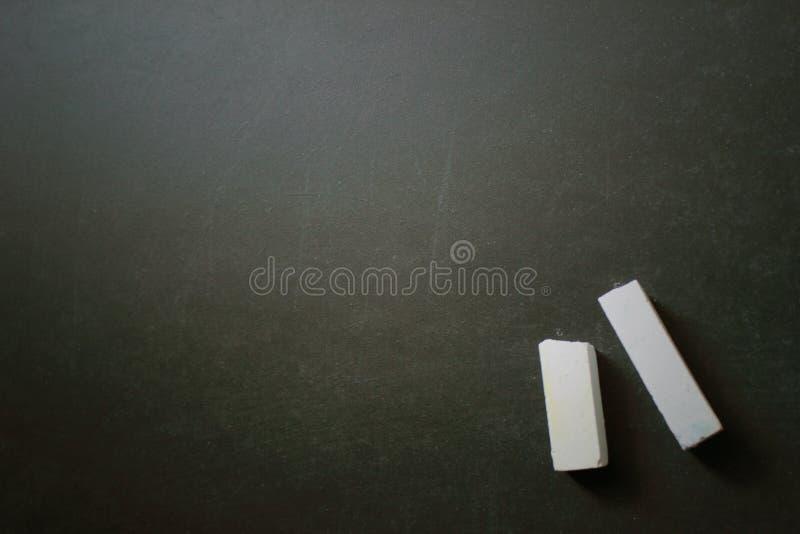 Tafel/Tafel leer mit Kreide lizenzfreie stockfotos