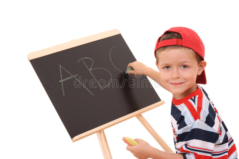 Tafel und Kind lizenzfreies stockbild