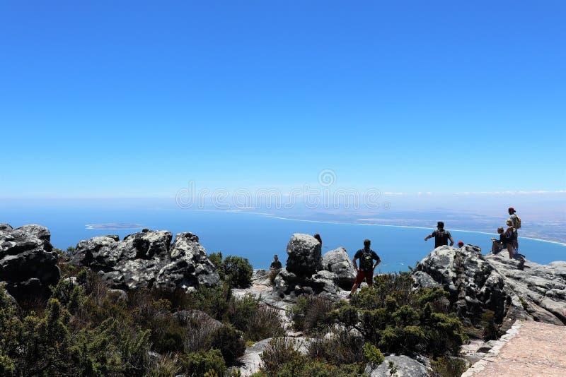 Tafelberg ist ein Hochebenenberg s?dlich von Cape Town stockfoto