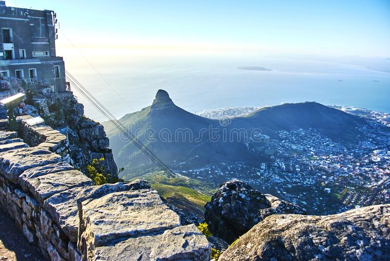 Tafelbergansicht Cape Town Südafrika stockbilder