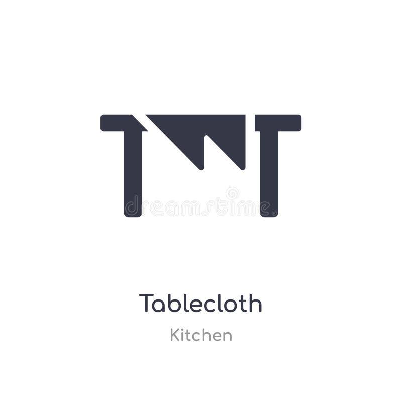 tafelkleedpictogram de geïsoleerde vectorillustratie van het tafelkleedpictogram van keukeninzameling editable zing symbool kan g stock illustratie