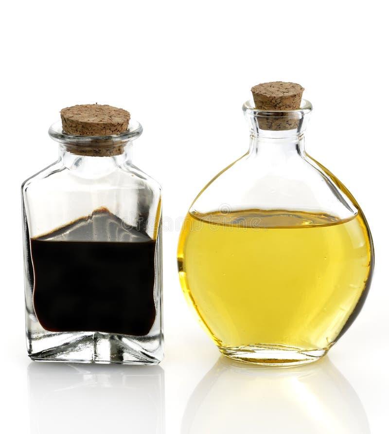 Tafelolie en Azijn royalty-vrije stock afbeelding