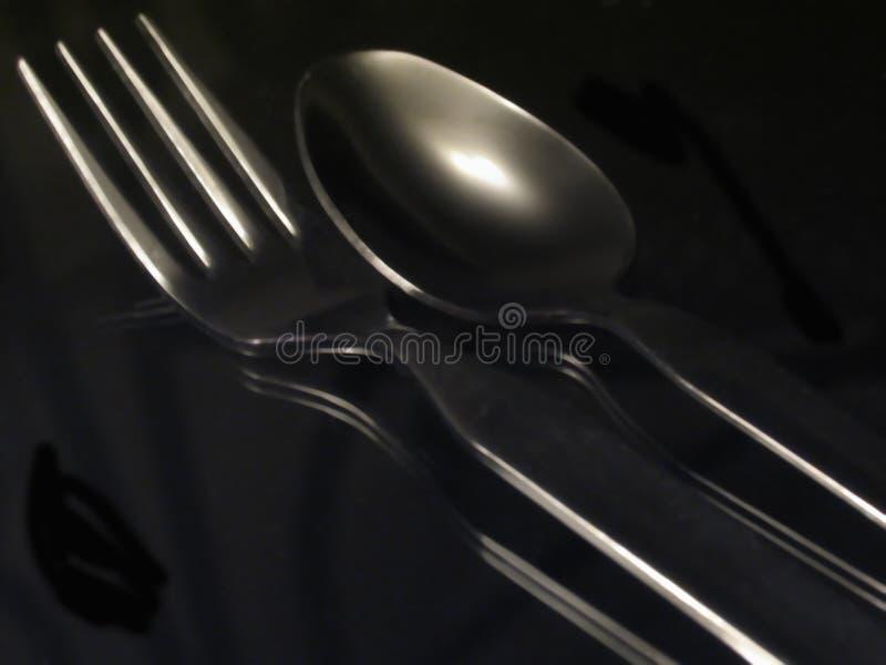 Download Tafelsilber stockfoto. Bild von restaurant, gerät, essen - 41982