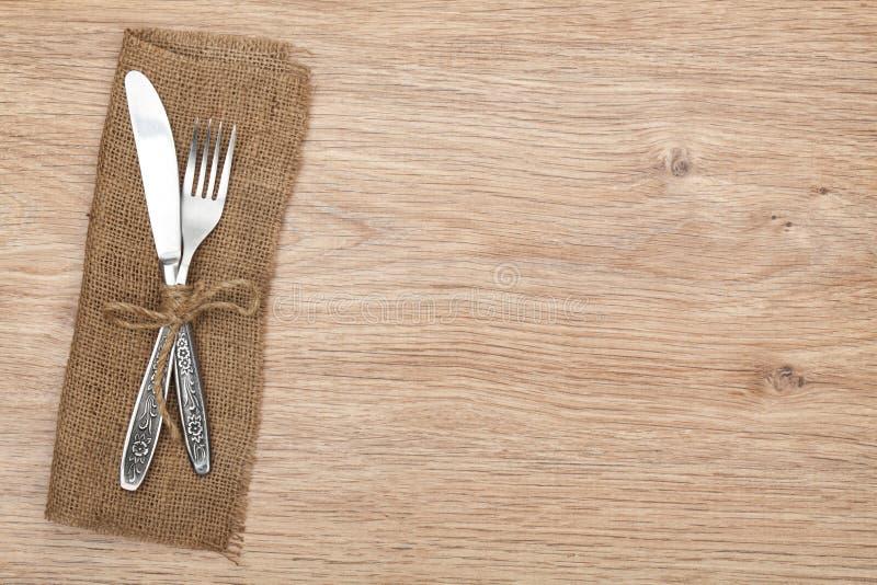 Tafelzilver of tafelgereedschapreeks van vork en mes royalty-vrije stock fotografie