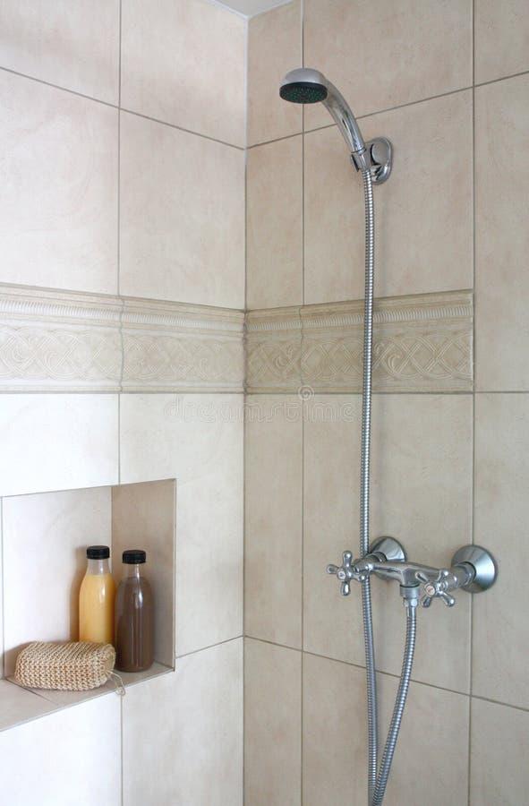 taflująca łazienki prysznic zdjęcie stock