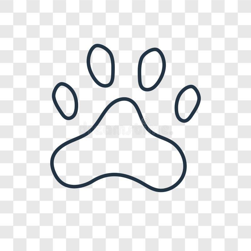 Tafsa den linjära symbolen för tryckbegreppsvektorn som isoleras på genomskinlig bac stock illustrationer