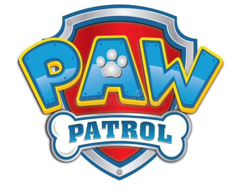 Tafsa patrullen, logo somsymbolen animerade serie royaltyfri illustrationer