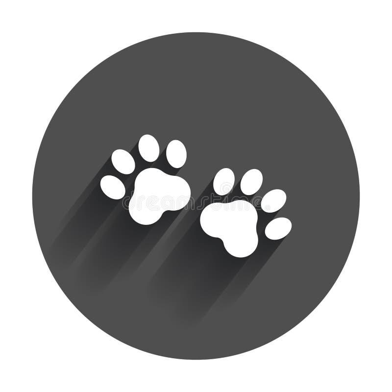 Tafsa tryckvektorsymbolen Hund- eller kattpawprintillustration royaltyfri illustrationer