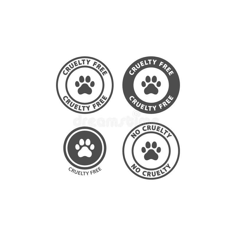 Tafsar den fria vektorstämpeln för grymhet med hunden trycket stock illustrationer
