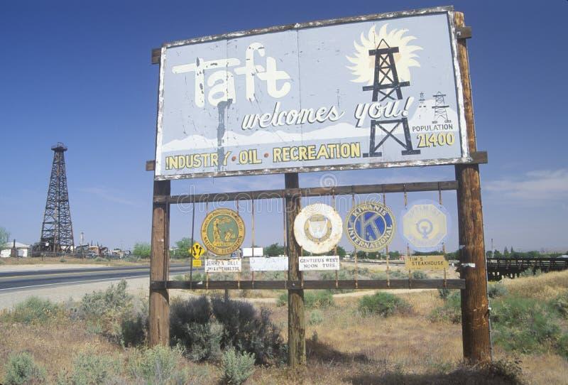 Taft welcomes you! sign