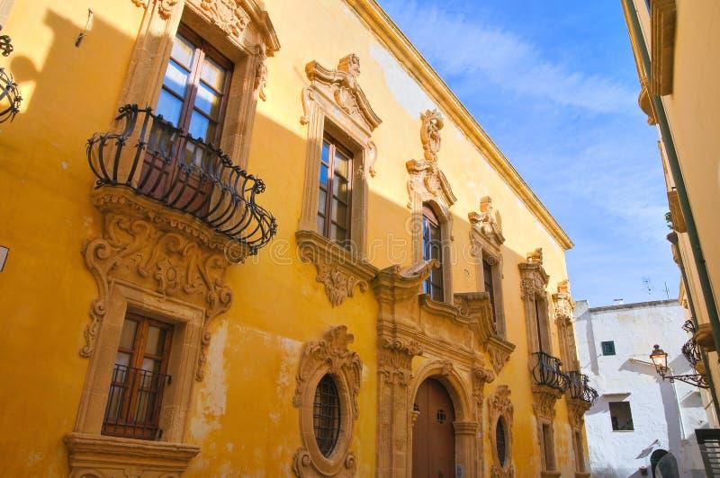Tafuri palace. Gallipoli. Puglia. Italy. Tafuri palace of Gallipoli. Puglia. Italy stock images