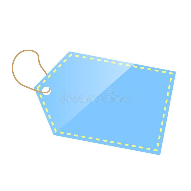 Tag azul imagem de stock royalty free