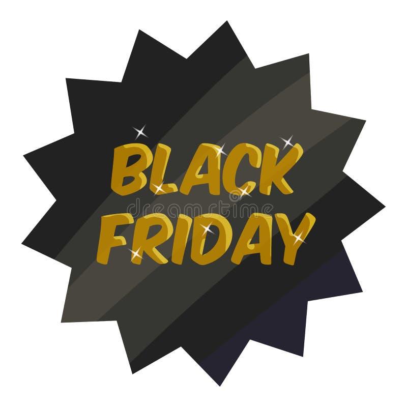 Tag black friday icon, cartoon style. Tag black friday icon. Cartoon illustration of tag black friday icon for web vector illustration