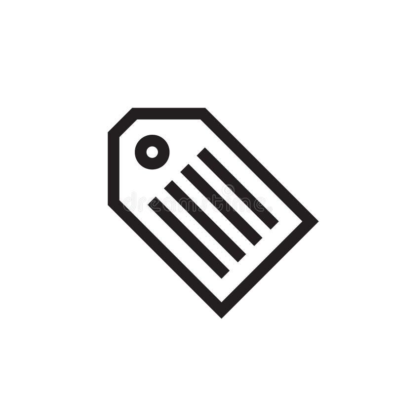 Tag - black icon on white background vector illustration for website, mobile application, presentation, infographic. Label concept. Sign design stock illustration