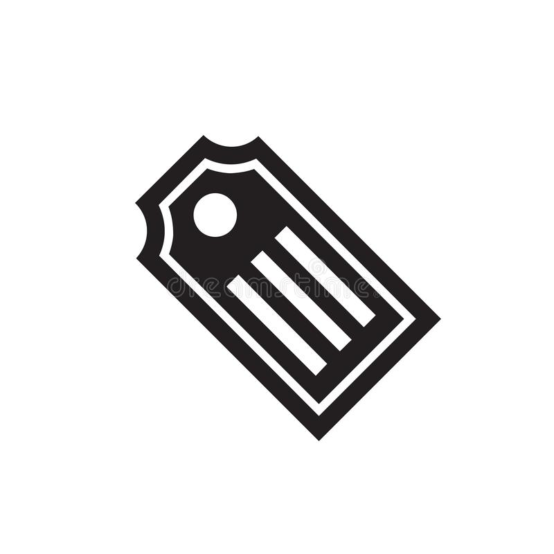 Tag - black icon on white background vector illustration for website, mobile application, presentation, infographic. Label concept. Sign design vector illustration