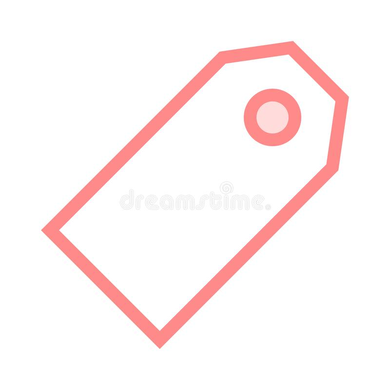 Tag color line icon. Vector flat Icon. Elements for mobile concept and web apps. Thin line icons for website design and development, app development. Premium vector illustration