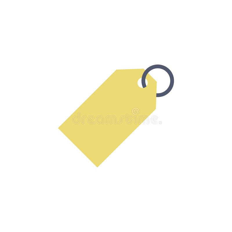 Tag colored icon. Element of school icon for mobile concept and web apps. Detailed tag icon can be used for web and mobile. Simple. Icon on white background stock illustration
