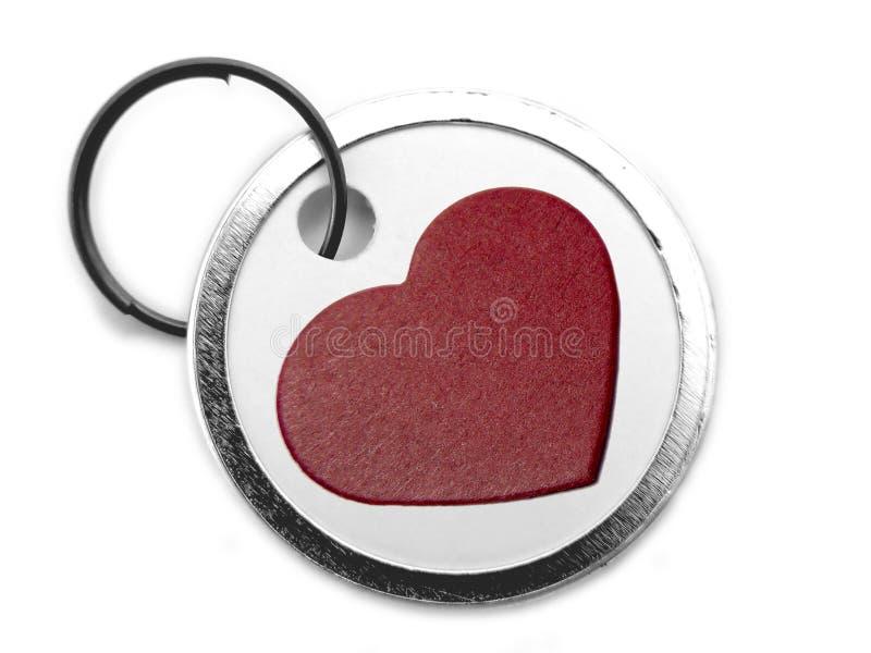 Tag com coração fotografia de stock