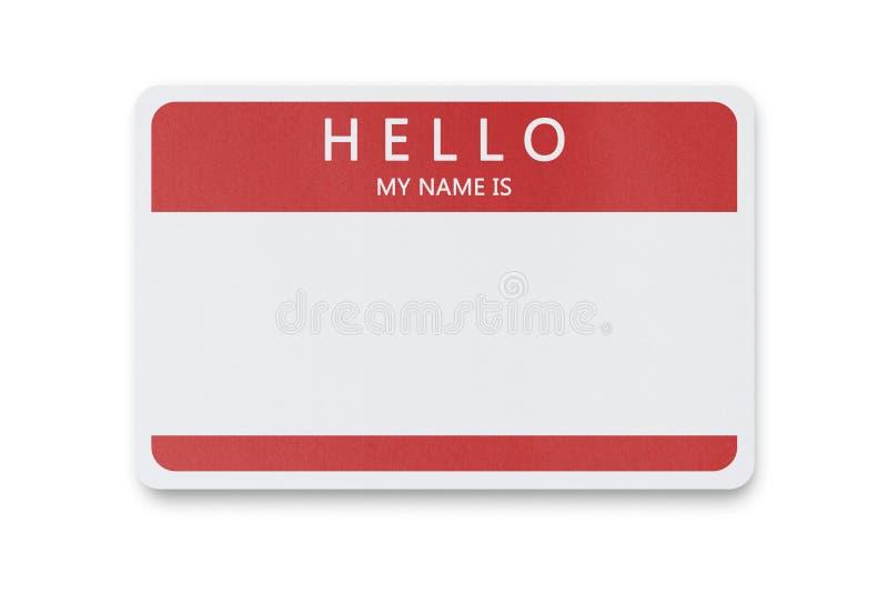 Tag conhecido em branco com espaço da cópia imagens de stock